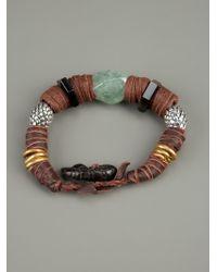 KD2024 | Brown Leather Beaded Bracelet for Men | Lyst