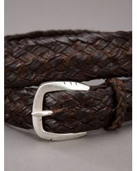Orciani - Brown Woven Leather Belt for Men - Lyst