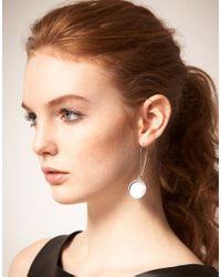 Cheap Monday   Metallic Flip Earrings   Lyst