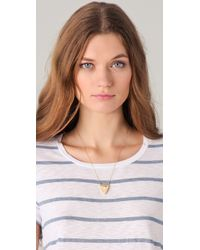 House of Harlow 1960 - Metallic Engraved Faceted Pyramid Pendant Necklace - Lyst