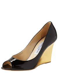 Jimmy Choo | Black Baxen Wedges | Lyst