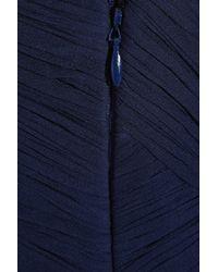 Tibi | Blue Silk Chiffon Strapless Dress | Lyst
