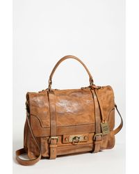 Frye | Brown Cameron Flap Satchel | Lyst