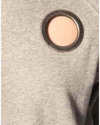 Cheap Monday | Gray Sweat Top With Ring Detail | Lyst