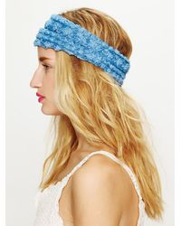 Free People | Blue Tatty Floral Gauze Headwrap | Lyst