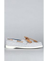 Sperry Top-Sider | Blue Authentic 2 Eye - Navy Seersucker Boat Shoe | Lyst