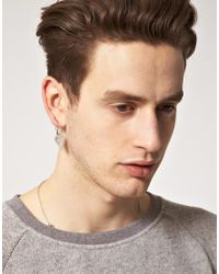 Cheap Monday - Metallic Crystal Earring Exclusive To Asos for Men - Lyst