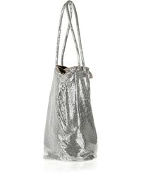 Halston | Metallic Samantha Chain Mail Bucket Bag | Lyst