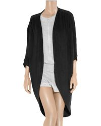 Lounge Lover - Black Cocoon Oversized Fleece Cardigan - Lyst