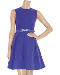 Preen By Thornton Bregazzi | Blue Grace Pleated Stretch-crepe Dress | Lyst