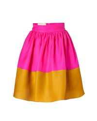 Roksanda | Yellow Hot Pink and Mustard Silk Organza Full Skirt | Lyst