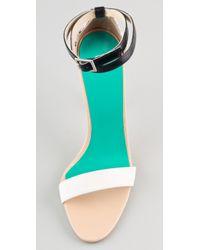 Tibi   White Amber Snake High Heel Sandals   Lyst