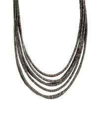 ASOS | Metallic Silk Wrap Necklace | Lyst