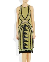 Etro | Yellow Embellished Silkgeorgette Dress | Lyst