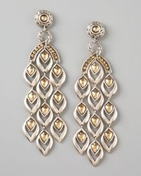 John Hardy | Metallic Extra Long Chandelier Earrings | Lyst