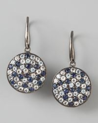 M.c.l  Matthew Campbell Laurenza | Metallic Pave Sapphire Drop Earrings Ice | Lyst