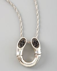 John Hardy   Metallic Bamboo Horseshoe Pendant Necklace   Lyst
