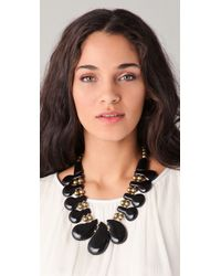 Theodora & Callum - Black Iris Necklace - Lyst