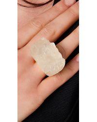 Alexis Bittar - Metallic Liquid Gold White Resin Quartz Ring - Lyst