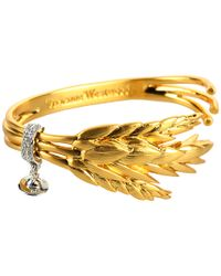 Vivienne Westwood | Metallic Harvest Open Bangle | Lyst