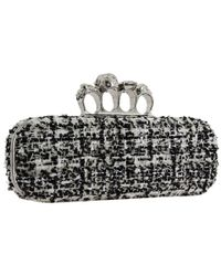 Alexander McQueen | Sequined Box Clutch With Fringe - Black | Lyst