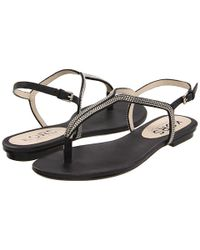 Kors by Michael Kors | Black Kors Sandals Zanna Flat | Lyst
