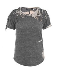 Isabel Marant | Gray Tizy Tiedye Braided Top | Lyst