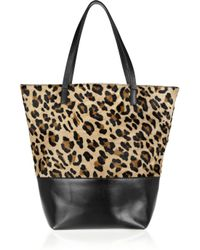 Maje - Multicolor Ketchup Leopard-print Calf Hair and Leather Tote - Lyst