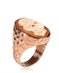 Amedeo | Natural Skull Ring | Lyst
