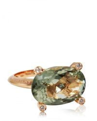 Antonini - Green Amethyst and Diamond Ring - Lyst