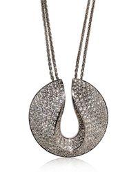 Antonini - White Full Pave Diamonds Necklace - Lyst