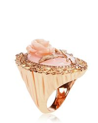 Bliss Rose - Pink Augustine Agate Ring - Lyst
