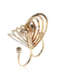 Delfina Delettrez - Pink Triple Love Balls Double Ring - Lyst