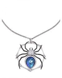 Stephen Webster | White Large Spider Pendant Necklace | Lyst