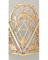 Bing Bang - Metallic Sacred Geometry Cuff Bracelet - Lyst