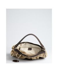 Gucci | Natural Cocoa Gg Canvas and Leather Sukey Hobo | Lyst