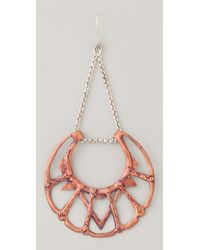 Bing Bang - Red Iroquois Moon Chandelier Earrings - Lyst