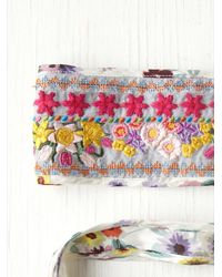 Free People - White Floral Galore Obi Belt - Lyst