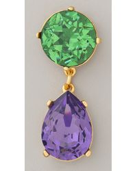 Kenneth Jay Lane | Multicolor Gemstone Teardrop Earrings | Lyst