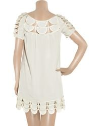 Temperley London - White Mini Oriel Georgette Dress - Lyst