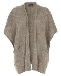 Eskandar - Brown Taupe Open Front Chunky Cardigan - Lyst
