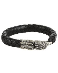 King Baby Studio - Brown Leather Bracelet with Eagle Clasp - Lyst