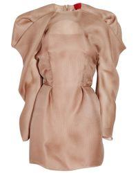 Lanvin | Pink Pleated Silk-gazar Dress | Lyst