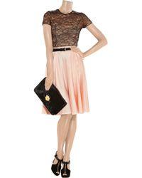 Nina Ricci - Pink Gathered Satin Skirt - Lyst
