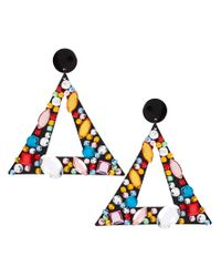 ASOS | Multicolor Jewelled Triangle Doorknocker Earrings | Lyst