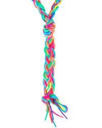 ASOS - Multicolor Neon Plaited Larait Necklace - Lyst
