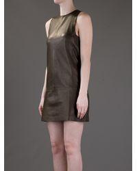 Balenciaga   Green Leather Dress   Lyst