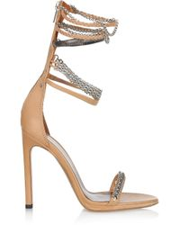 Isabel Marant | Natural Rio Chainstrapped Leather Sandals | Lyst