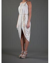 Lanvin | White Sleeveless Dress | Lyst