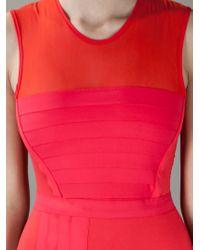Markus Lupfer | Red Colour Block Dress | Lyst